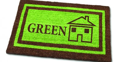 Green building welcome mat